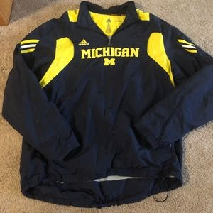 Adidas University of Michigan Pullover Size Large